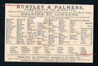 1878 -dated baseball rarity by Huntley & Palmers biscuits original French trade card